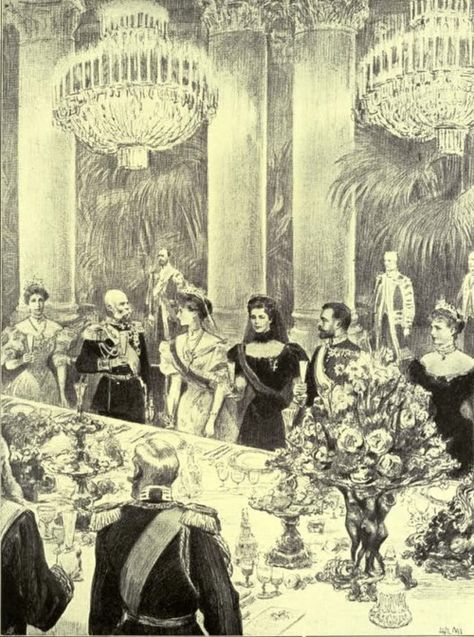 Franz Joseph and Empress Elizabeth (Sisi) with Nicholas II and Alexandra