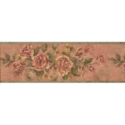 August Grove Crowland Bloomed Roses On Vine Wallpaper Border Wayfair In 2020 Wallpaper Border Brick Wallpaper Roll Wildlife Wallpaper