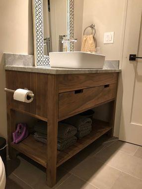 Custom Made Solid Walnut Bathroom Vanity Bathrooms Remodel