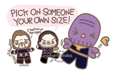 How the REAL fight between cap and thanos goes via:mintmintdoodles