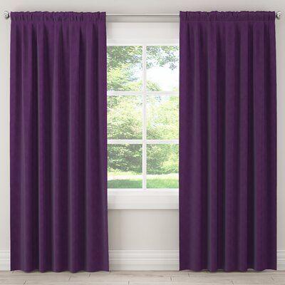 Charlton Home Cunha Unlined Solid Room Darkening Rod Pocket Single Curtain Panel Wayfair Ca Purple Curtains Purple Curtains Bedroom Colorful Curtains