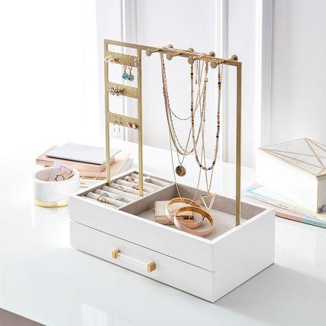 Jewelry Display Stands, Jewelry Stand, Jewelry Holder, Organizing Hair Accessories, Jewelry Organization, Accessories Display, Room Accessories, Jewellery Storage, Jewellery Display
