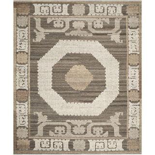 Shop for Safavieh Handmade Kenya Ivory/ Brown Wool Rug (4' x