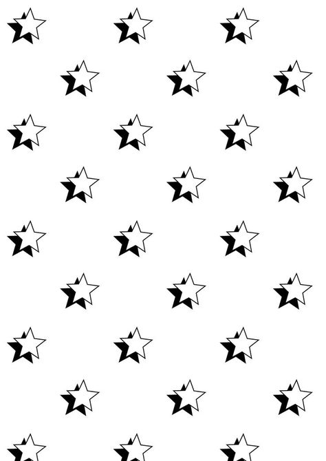 FREE printable star pattern paper | black and white star pattern + seamless digital pattern