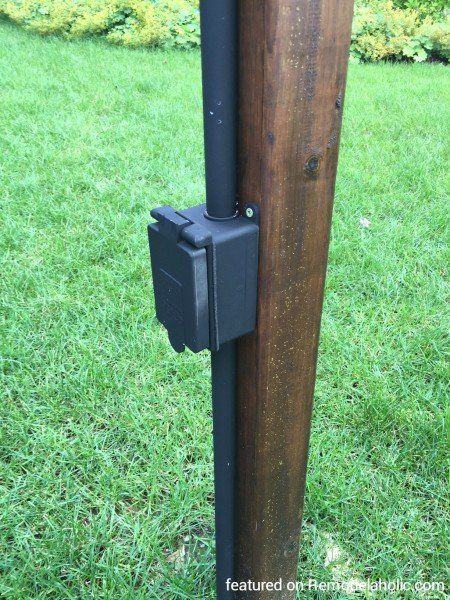 Outdoor Electrical Outlet Mounting Post Outdoor Electrical Outlet Diy Outdoor Lighting Outdoor Lamp Post Lights