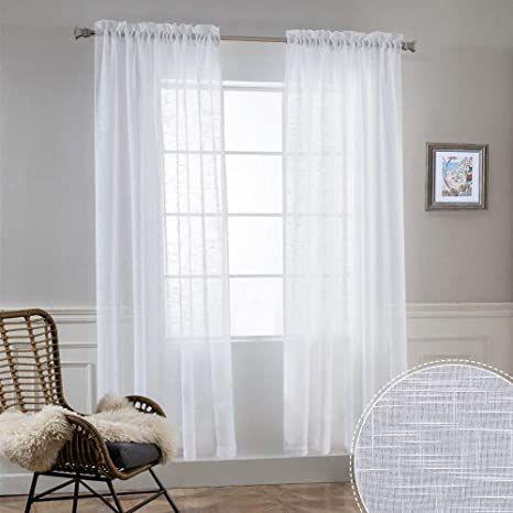 ryb home semi sheer curtains natural