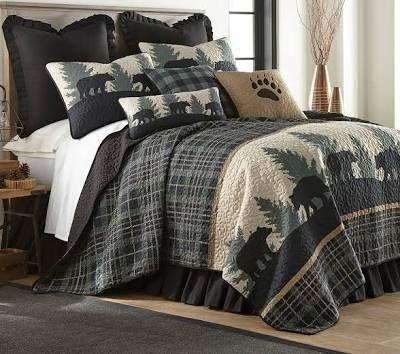Woolrich Bedding Mountain Bear Quilts Quilt Full Lodge Bedding