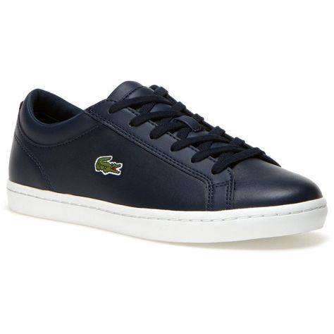 2b1b9be05f6e Lacoste Women s Straighset Sneakers ( 70) ❤ liked on Polyvore featuring  shoes