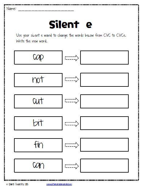Sneaky E Worksheets Silent E Worksheets In 2020 Phonics Kindergarten Teaching Phonics Magic E Long o silent e worksheets