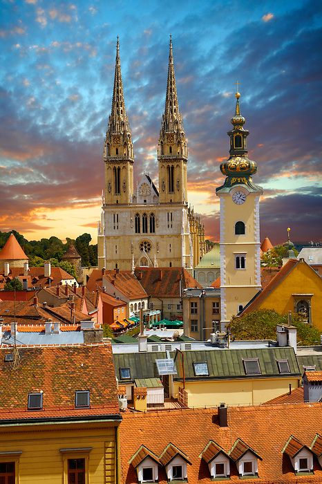 Zagreb Katedrala Zagreb Zagreb Croatia Croatia Travel