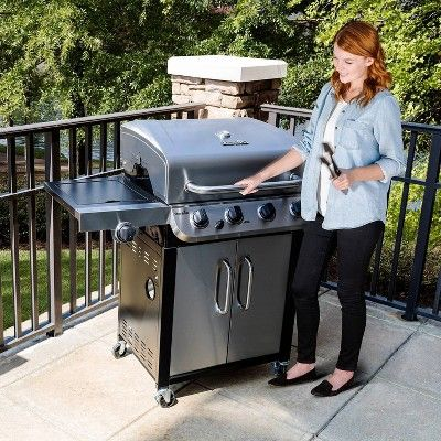 Char Broil Performance Series 6 Burner Flat Top Propane Gas Grill With Side Burner And Cabinet Best Gas Grills Propane Gas Grill Best Charcoal Grill
