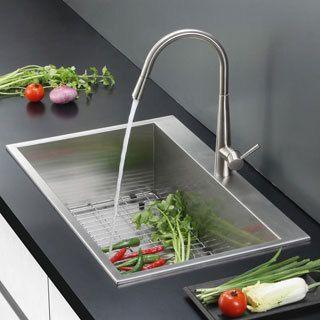 Ruvati Overmount 16 Gauge 25 Inch Kitchen Sink Single Bowl Drop In Kitchen Sink Best Kitchen Sinks Single Bowl Kitchen Sink