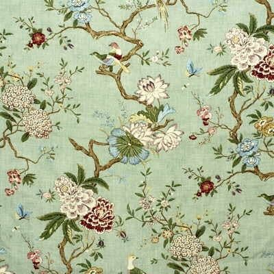 Oriental Bird Eau De Nil Kravet Chinoiserie Fabric