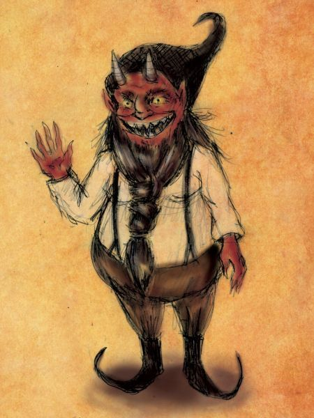 The Nain Rouge Is An Imp Like Creature From The Folklore Around Detroit Michigan With A Name That Translates From French As Red Dwarf It Is Described As A