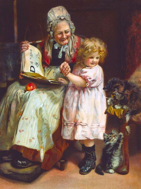 10+ idee su Nonni e nipoti | immagini, dipinti artistici, dipinti