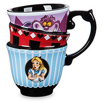 Disney Store Mug Effet Empile Alice Au Pays Des Merveilles Pays Des Merveilles Vaisselle Disney Theme Alice Au Pays Des Merveilles