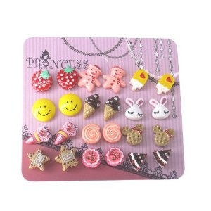 Pack of 12 Color Cute Magnetic Stud Earrings for Girls Kids Women, Studs, Skyblue