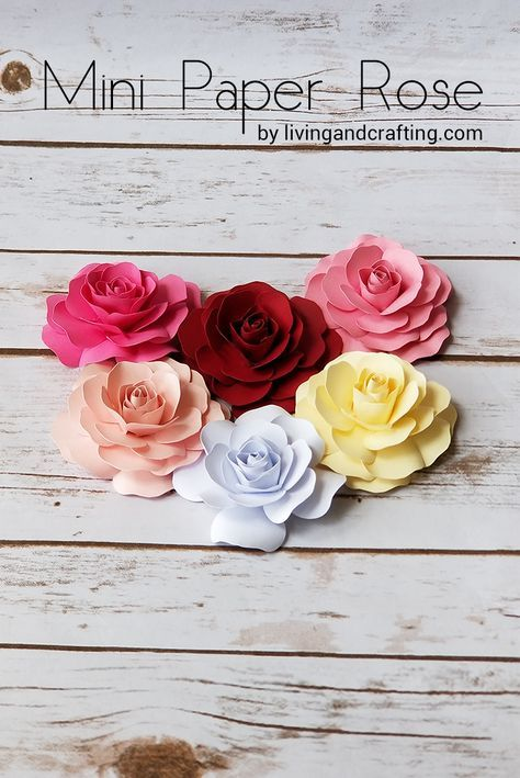 Mini Paper Rose Paper Roses Paper Flowers Diy Paper Flowers