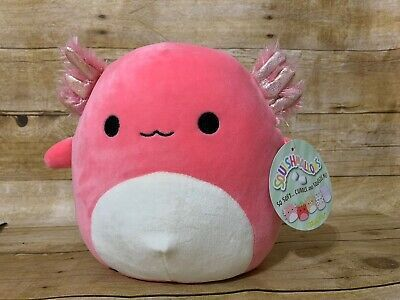 Squishmallows 8 Archie The Axolotl Walking Fish Pink Salamander Rare Nwt Plush Ebay Cute Stuffed Animals Plush Animals Plush