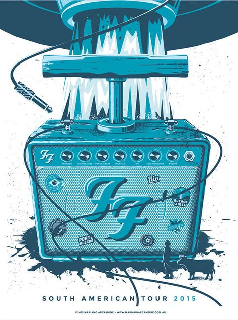 Poster design proposal by Mariano Arcamone for the Foo Fighters South American Tour 2015.