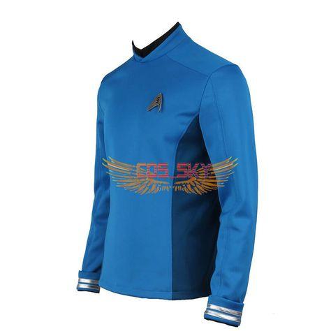 Movie Star Trek Beyond Leonard H McCoy Bones Spock Blue Top Cosplay Costume
