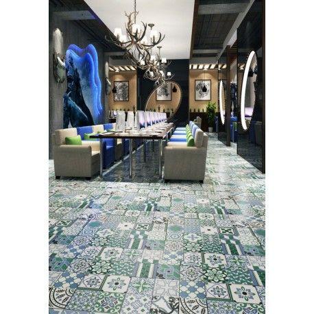 Patchwork Carrelage Imitation Ciment En Ceramique Limana Carrelage Inox Carrelage Decoration Salle De Bain