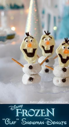"""Disney FROZEN """"Olaf"""" Snowman Donuts! - Bubbly Nature Creations"""