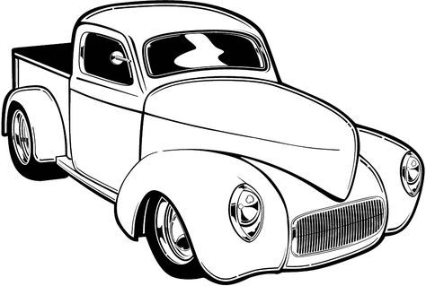 Hot Rod Coloring Page Cars Coloring Pages Old School Cars Cool Car Drawings