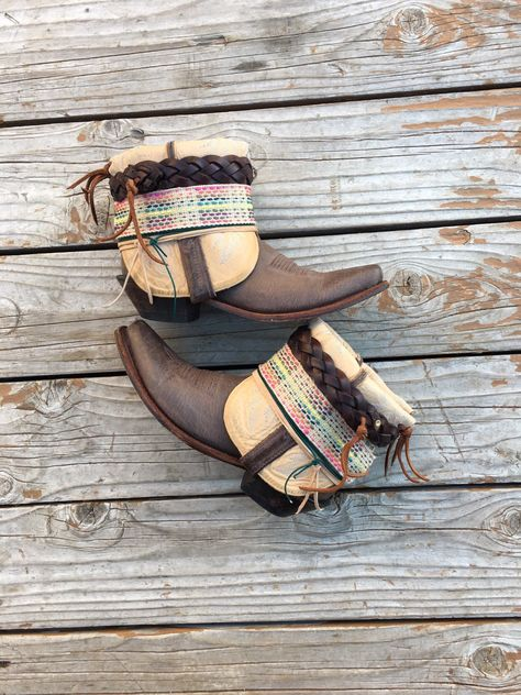 3c4994ae9aa Gorgeous Leather UPCycled Cowgirl Boots Size 8 - Womens Cowboy Boots ...