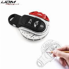 Red+Black ABS JCW Style Remote Cap Key Fob Hard Shell Case For 3rd MINI Cooper