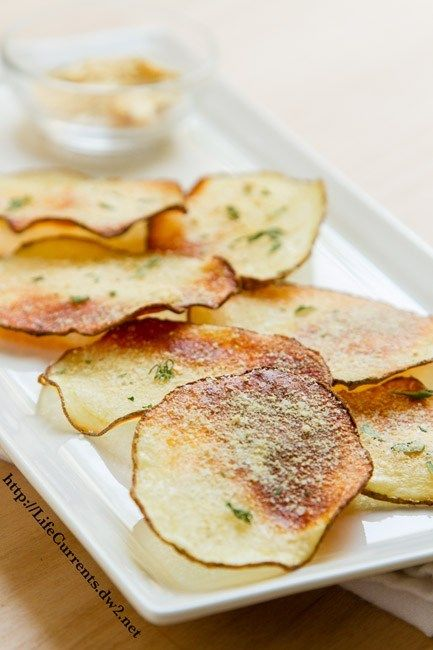 Baked Sour Cream And Onion Potato Chips By Life Currents Potato Chip Recipes Chips Recipe Chip Seasoning