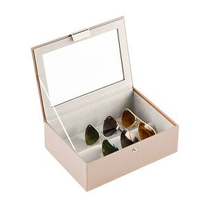 "LIDDED TWO DRAWER in CREAM WOOD-NEW ICONIC /""Audrey/"" COLLECTION Jewellery Box"