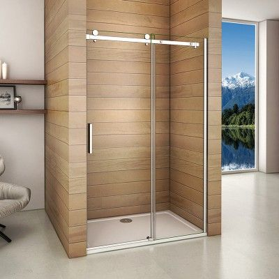 Luxury 1950mm Frameless Sliding Shower Enclosure Door 1000 1400mm Various Size Available Frameless Sliding Shower Doors Sliding Shower Door Shower Doors