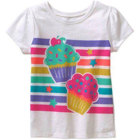 Okie Dokie Baby Girls Short-Sleeve Peplum Top with Pink Daisies