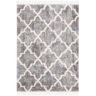 Safavieh Berber Fringe Shag Melva Trellis Rug 2 X 8 Runner Grey Cream Gray Berber Fringe Gray Greycream M In 2020 Trellis Rug Colorful Rugs Patterned Carpet