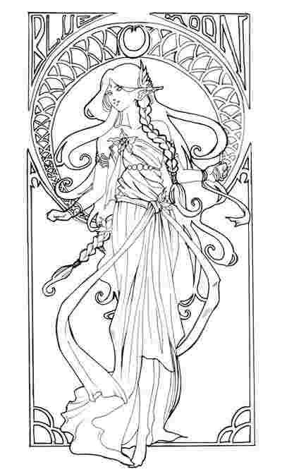 Best Printable Free Alphonse Mucha Coloring Pages 777