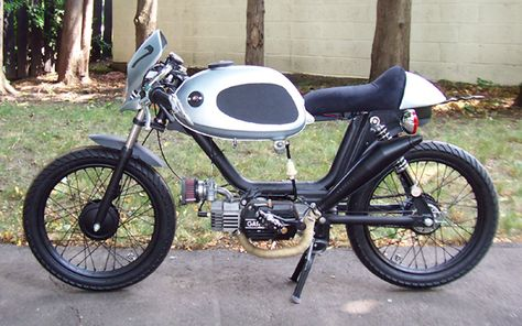 puch moped cafe racer conversion | moped cafe racers | pinterest