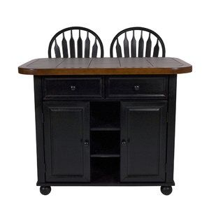 Lockwood Kitchen Island With Ceramic Tile Top And Stools By Loon Peak Small Kitchen Island Kitchen Tops Black Kitchen Island