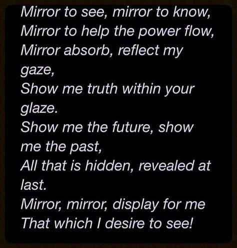 Magick Spells:  Scrying Mirror #Spell.