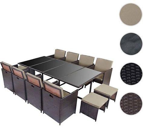 Heute Wohnen Poly Rattan Garten Garnitur Kreta Lounge Set