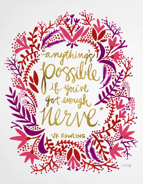 Anything is possible. #typography #lettering #quote #jkrowling