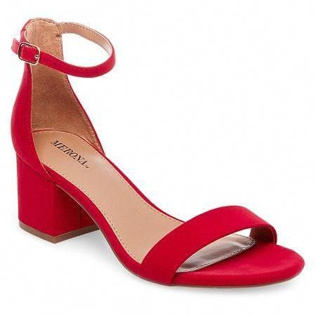Women's Marcella Low Block Heel Pumps with Ankle Straps