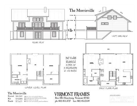 The Morrisville | Vermont Frames | Houses | Pinterest