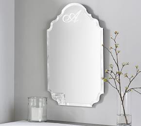 Eleanor Frameless Mirrors Monogram Wall Mirror Wall Frameless