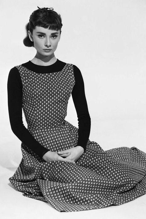 Audrey Hepburn Posing for a publicity still forSabrina, 1954.