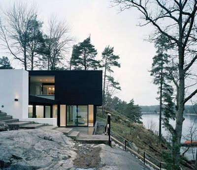 Modern Lake House Arsitektur Eksterior Desain
