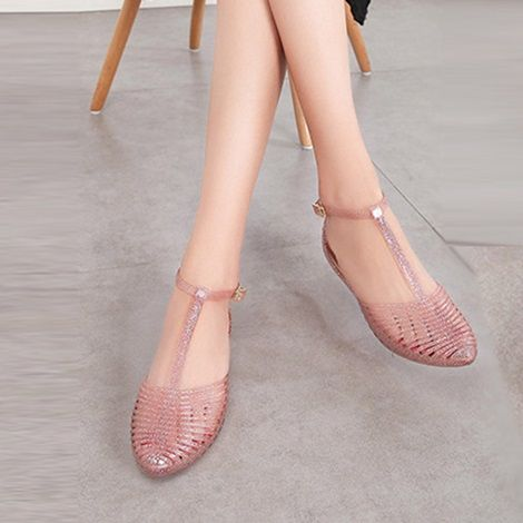 b7a3385cb2a Hollow Pointed Toe Women's Jelly Shoes #aesthetics #cyber #ghetto ...