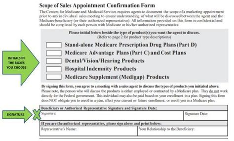 Medicare Scope of Appointment Form Why Do I Need to Sign that - medicare form