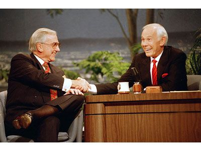 Tonight Show with Johnny Carson....he was the best of the bunch