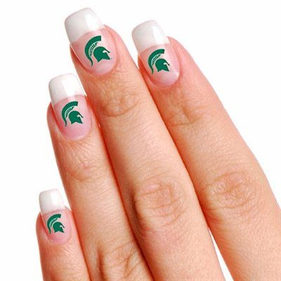 Michigan State Spartans 4-Pack Temporary Nail Tattoos